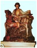 Statue en pierre calcaire polychrome du XVIe siècle (église Saint-Martin)