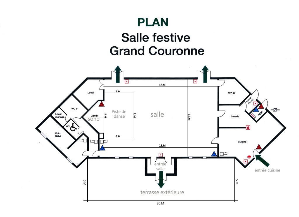 plan Salle festive Grand-Couronne