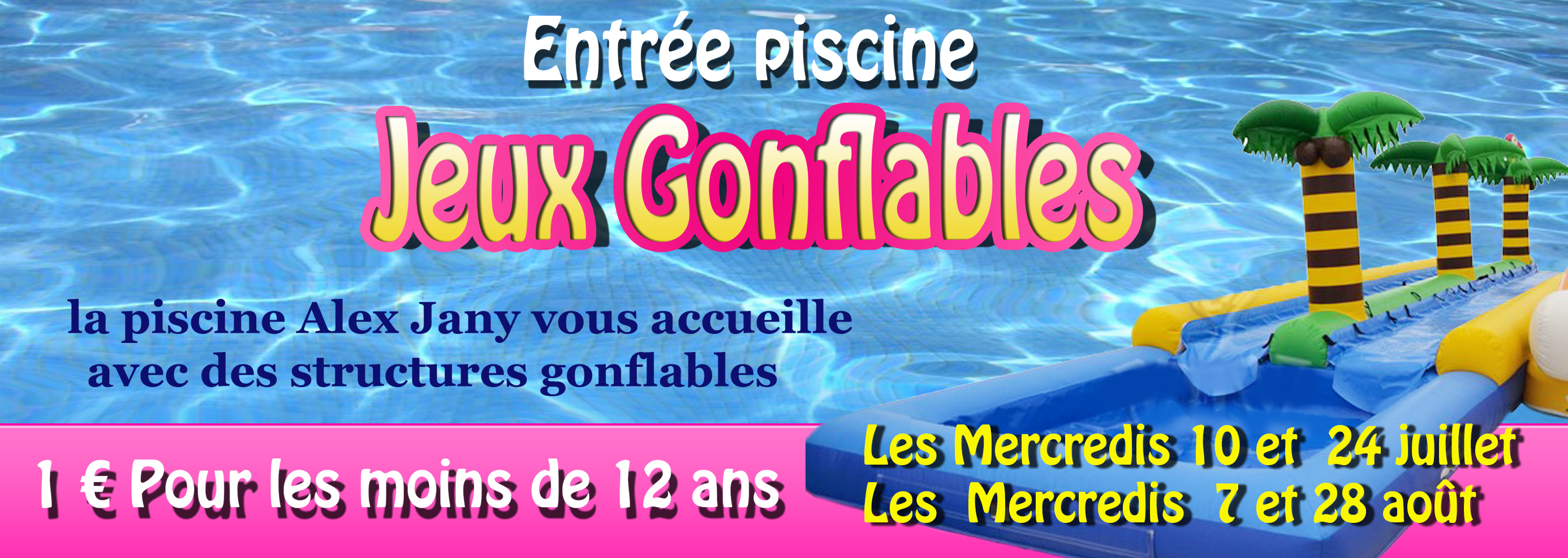 Structures gonflables piscine