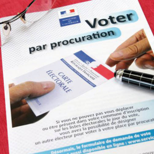 Elections Municipales, Vote par procuration