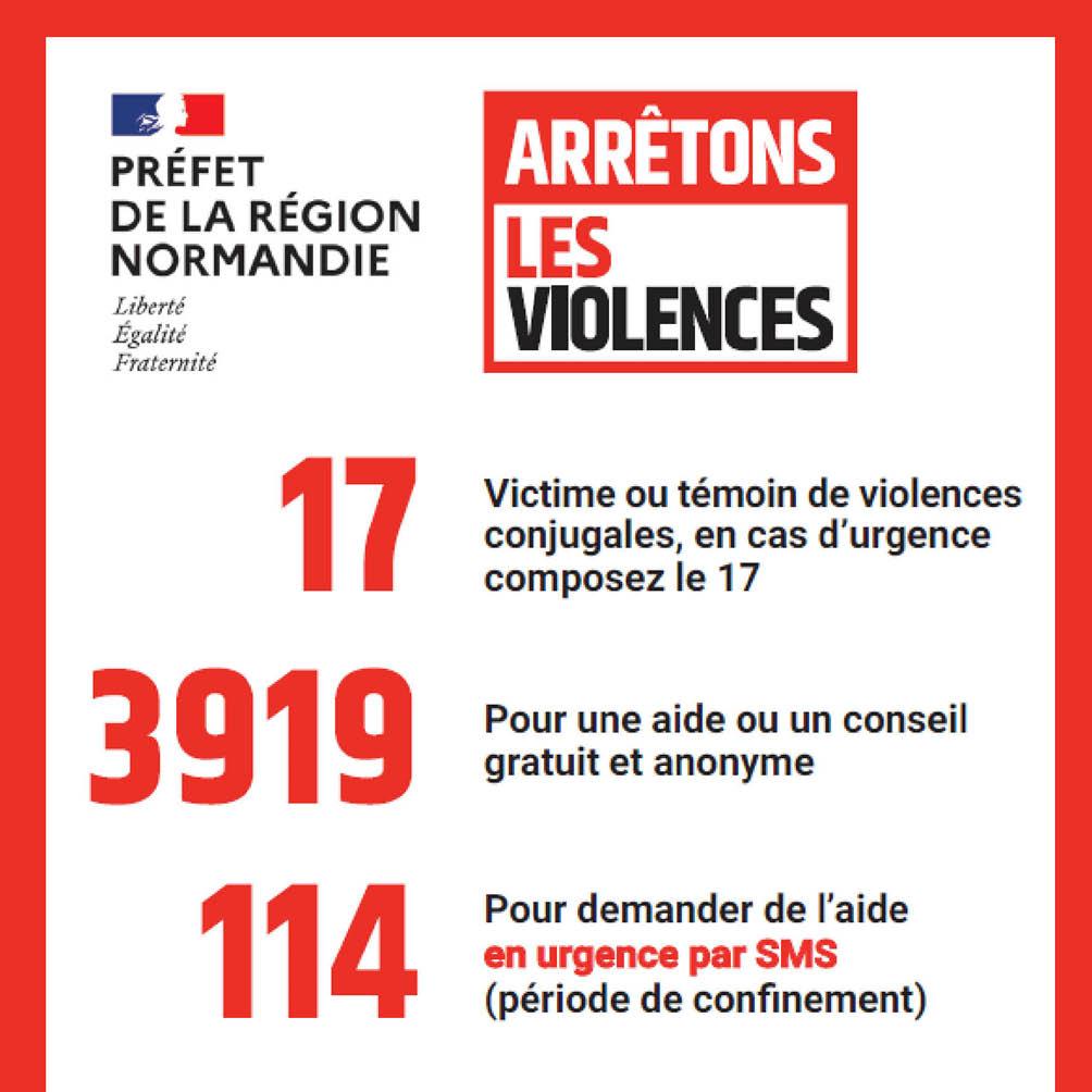 Information lutte contre les violences et numéros d'urgence